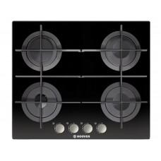 بوتاجاز هوفر مسطح بلت إن 60 × 60 سم 4 شعلة غاز لون أسود زجاجي مزود بأمان كامل للشعلات HGV64SMTCGB