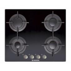 بوتاجاز هوفر مسطح بلت إن 60 × 60 سم 4 شعلة غاز لون أسود زجاجي مزود بأمان كامل للشعلات HGV64SMCB