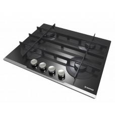 بوتاجاز هوفر مسطح بلت إن 60 × 60 سم 4 شعلة غاز لون أسود زجاجي مزود بأمان كامل للشعلات HGV64STCVB